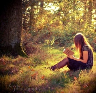 Reading in the forest