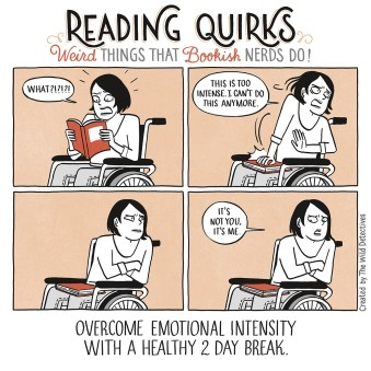 Reading Quirks Comic Overcome Emotional Intensity